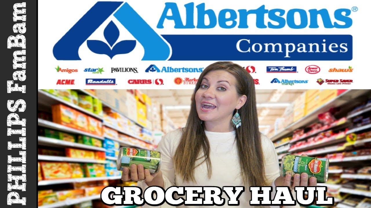 albertsons grocery haul large family christmas dinner haul phillips fambam hauls - Albertsons Hours Christmas