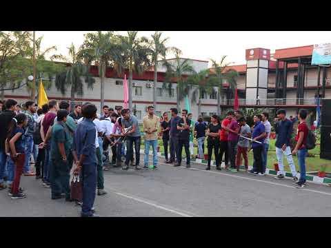 Water cannon Rocket Launch in Junkyard technorollix2k18 at O.P jindal University ,