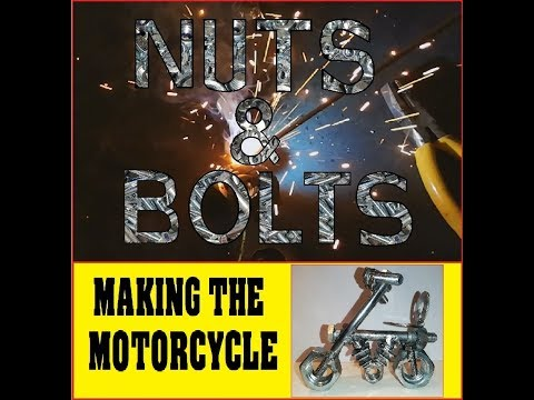 Motorcycle. Welding. DIY, Nuts and bolts