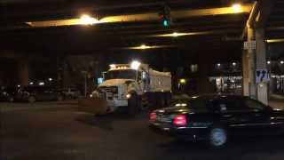 DSNY Mack Dump Truck Being Used As A Plow Truck & Salt Spreader In Preparation For A Snow Storm