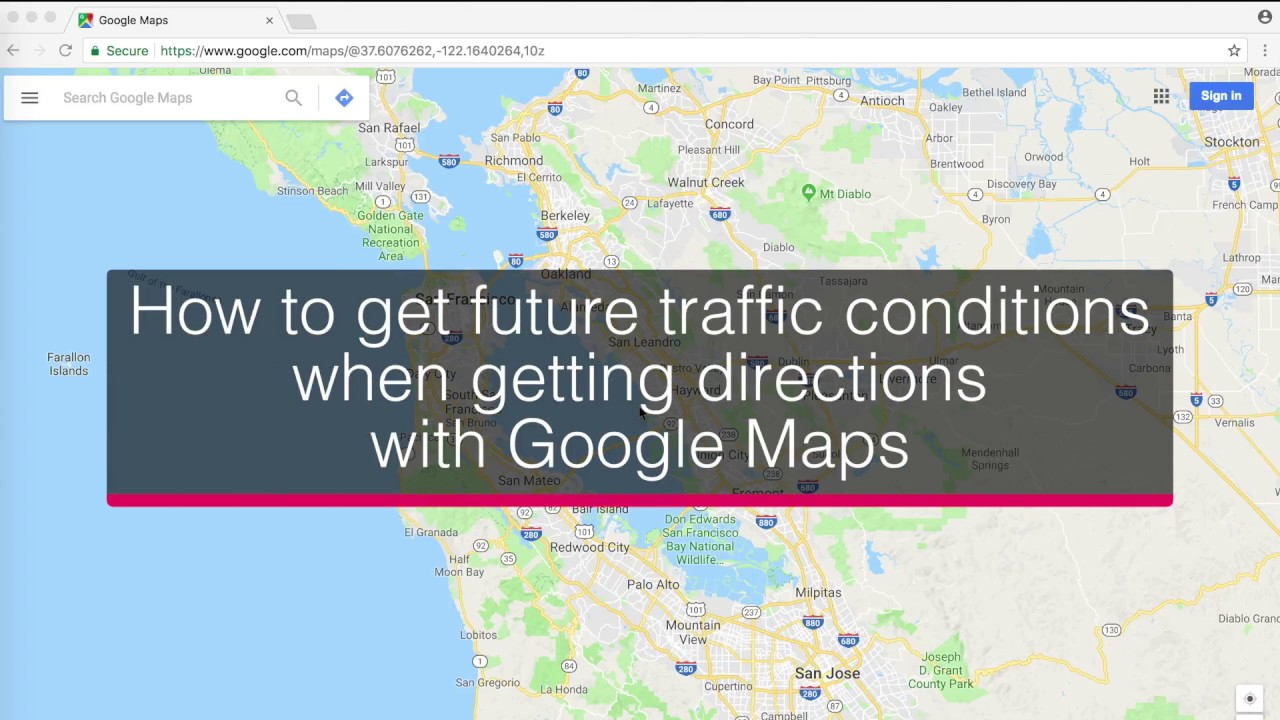 how to get future traffic conditions when getting directions with google maps youtube
