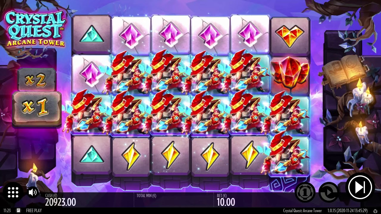 Crystal Quest: Arcane Tower  Slot Play Free ▷ RTP 96.2% & High Volatility video preview