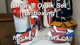 Brians Optik Goalie Pads and Gloves Set Unboxing