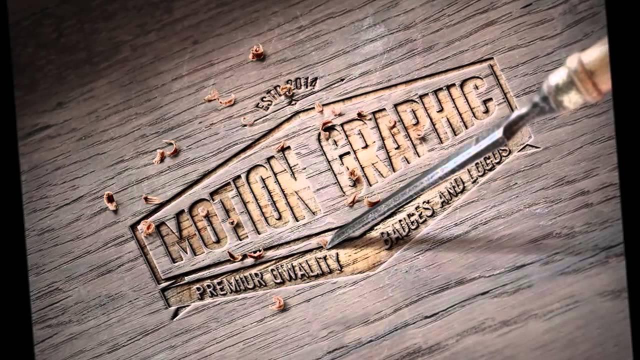 Wood carving logo mockup youtube