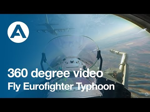 360 degree video: Fly Eurofighter Typhoon!