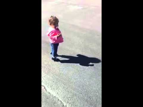 Funny: Baby Became Terrified When She Saw Her Own Shadow