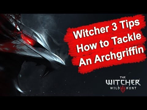 Witcher 3 Alchemy Build Destroys Archgriffin 5 levels Higher (1080p) HD