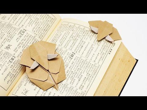 Origami Elephant Bookmark-Jo Nakashima