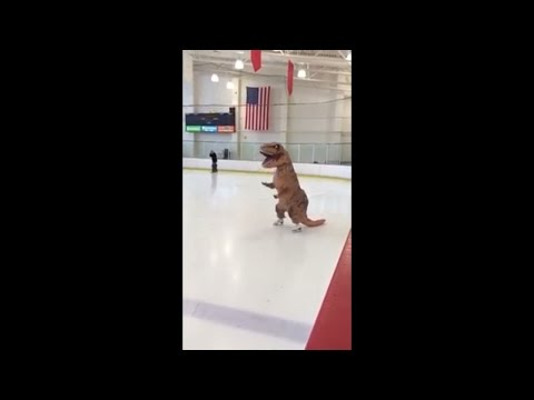 Ice Is Slippery For A T-Rex