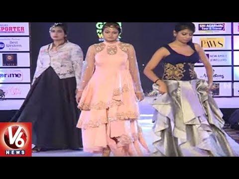 Fashion Parade | Models Ramp Walk In India Glam Fashion Week | City Life | V6 News
