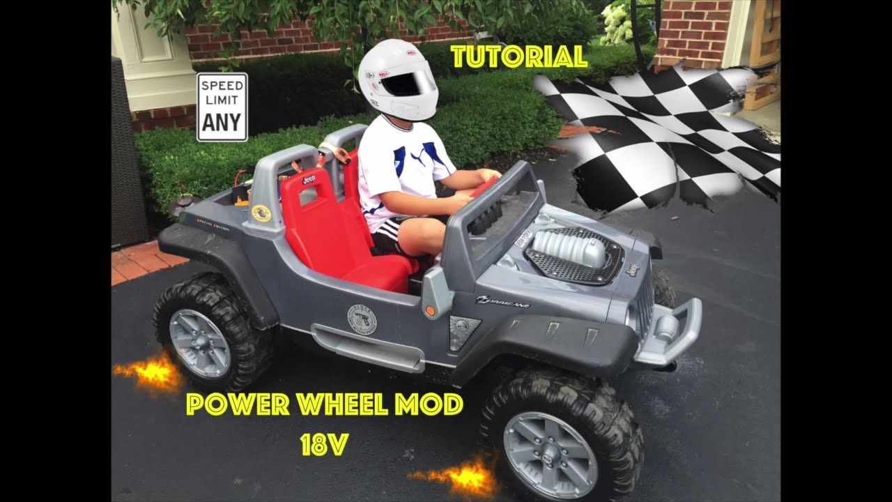 Safest  18v Power Wheels Jeep Hurricane Modification