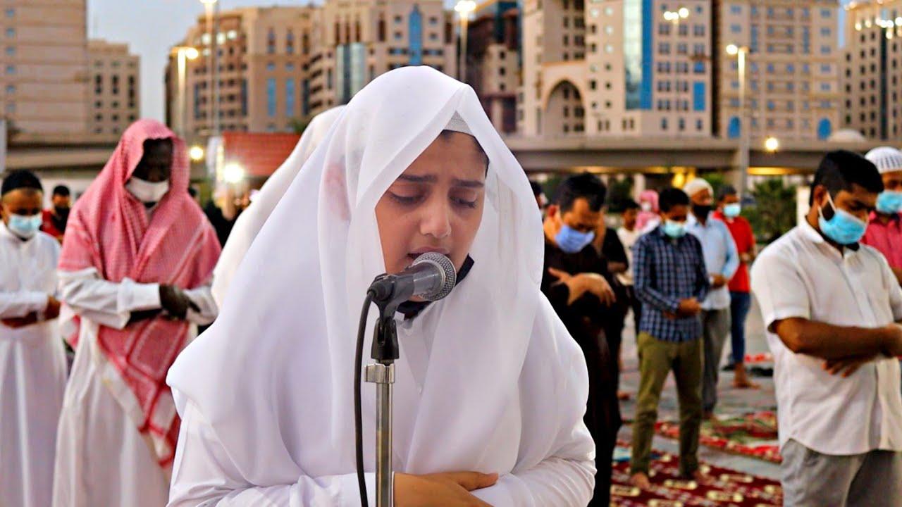 أول صلاة في المدينة المنورة للشبل علي عبدالسلام اليوسف بـ واجهة قباء