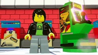 LEGO Dimensions - All 23 Arcade Game Locations (All Arcade Games Unlocked)