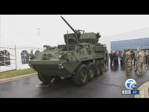 Prototype of Michigan-made Infantry Vehicle Unveiled in Sterling Heights