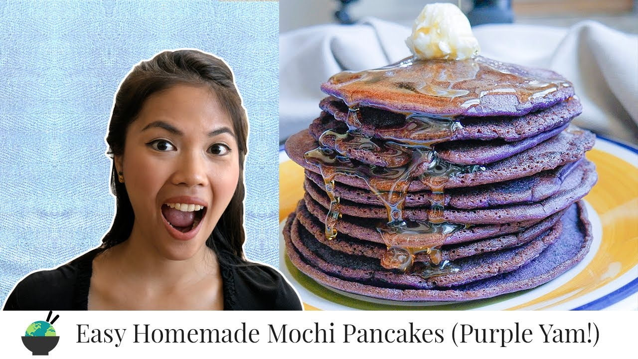 Ube Mochi Pancakes Recipe (Trader Joe's Alternative)