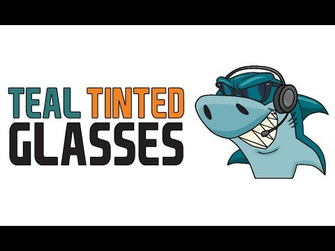 Teal Tinted Glasses 44 - Infinite Shark Realities