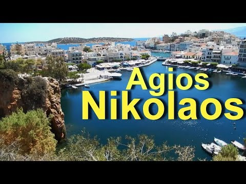 Agios Nikolaos Crete Greece June 2018