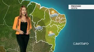 Previsão Nordeste - Chuva com raios na BA, PI e MA