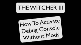 The Witcher 3 Debug Console Without Mods