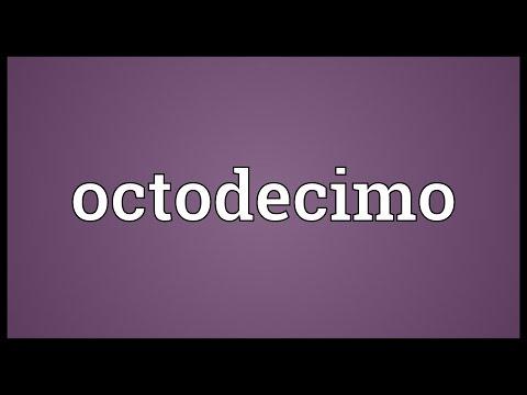 Header of octodecimo