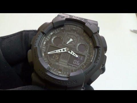 4b25e3b604c Casio - G-Shock GA-100-1A1 Review - YouTube