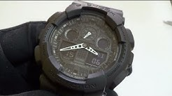 490c50305 Casio - G-Shock GA-100-1A1 Review - Duration: 5:37.