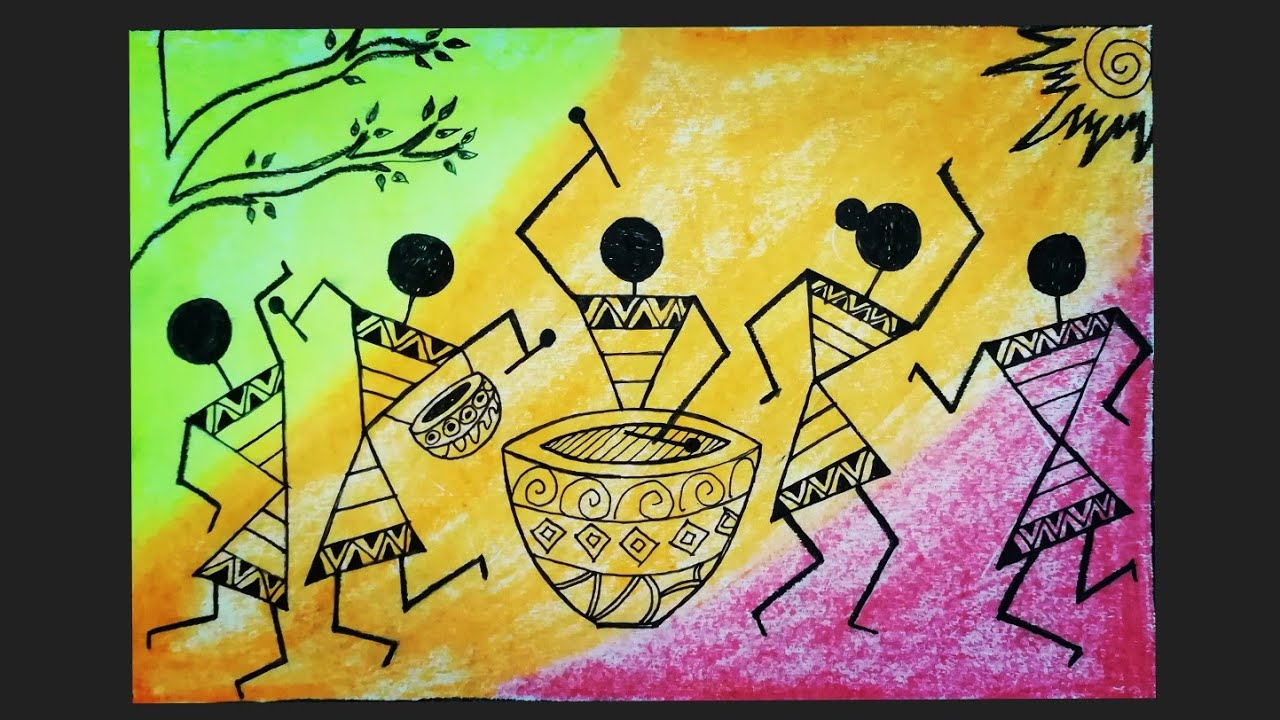 Warli Painting for Beginners|Easy Warli Art Tutorial with Oil Pastel|World of Artifact