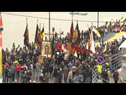 """""""Russia for Russians, Moscow for Muscovites"""" ULTRA EXTREME NATIONALISTS march in Moscow on UNITY DAY"""