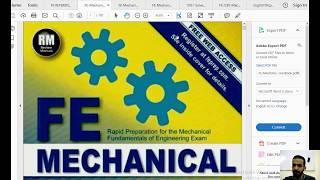 شرح ل الكتب الخاصة  FE Mechanical Exam