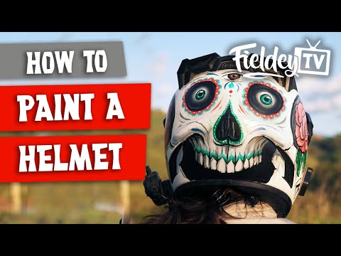 How to paint a motorcycle helmet like a pro!