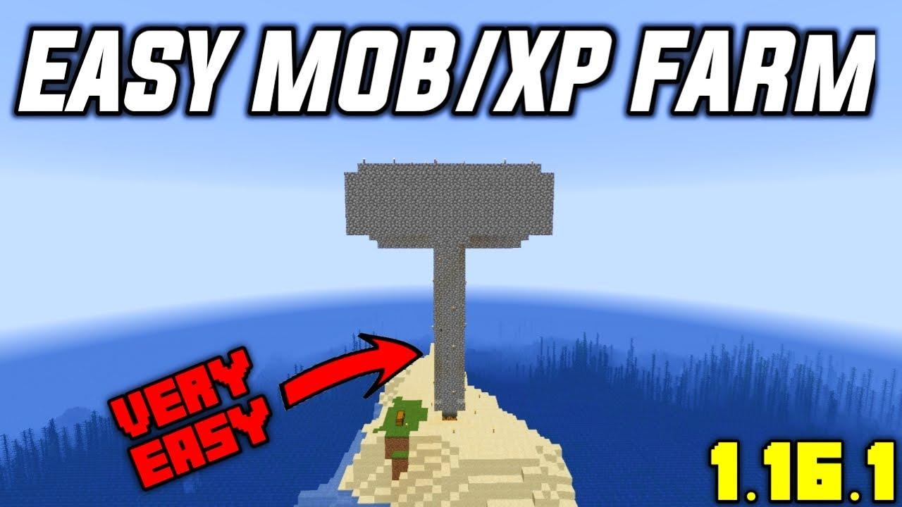 EASY MOB/XP FARM For NEW Minecraft 10.106+ (Tutorial)