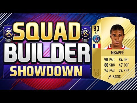 FIFA 18 SQUAD BUILDER SHOWDOWN!!! STRIKER PSG MBAPPE!!! Kyli