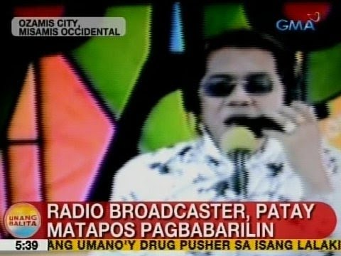 UB: Radio broadcaster sa Ozamis City, Misamis Occidental, patay matapos pagbabarilin
