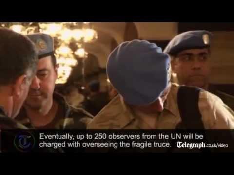 Syria: UN ceasefire monitors visit Deraa