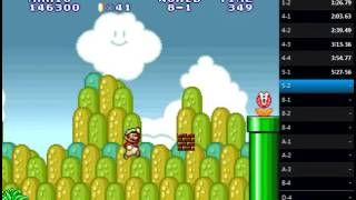 Super Mario Bros. 2 (The Lost Levels) Speedrun to D-4 in 14:25