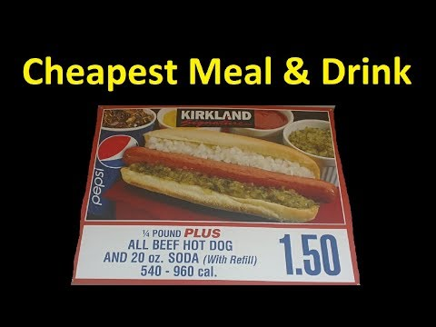 Cheapest Meal Restaurant Cafe Fast Food anywhere $1.50 + Costco Walkaround