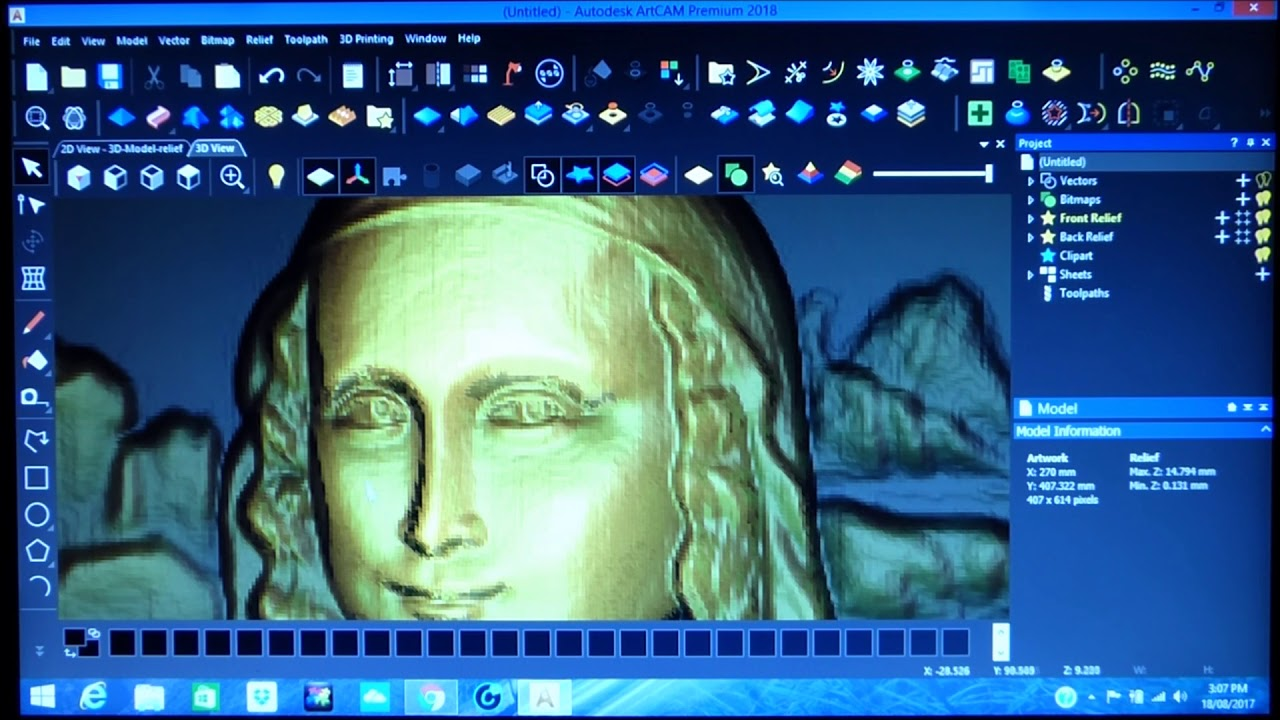 Grayscale 3d relief picture and images - 196 Artcam Grayscale Image To Hd 3d Relief The Mona Lisa
