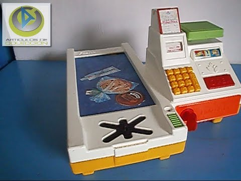 Caja registradora supermercado juguete antiguo fisher price antique toy sup review 1988 youtube - Como hacer una caja registradora de carton ...