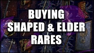 Path of Exile: How to Buy Awesome Shaped & Elder Items for Your Build - Cheap 5 & 6 Links