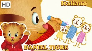 Daniel Tiger in Italiano 🖍️🌈🖌️ Colora con Me! | Video per Bambini