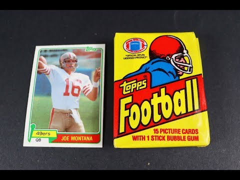I Just Pulled A Joe Montana Rookie Card ! Historical 1981 Topps Football Wax Pack Opening