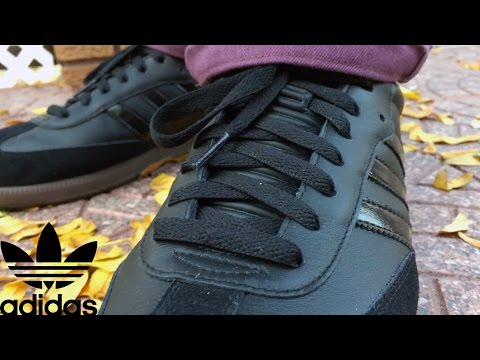 HOW TO: Adidas Samba   BLACK OUT PATENT LEATHER CUSTOM