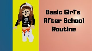 Basic Girl's After School Routine | Roblox Bloxburg Roleplay…