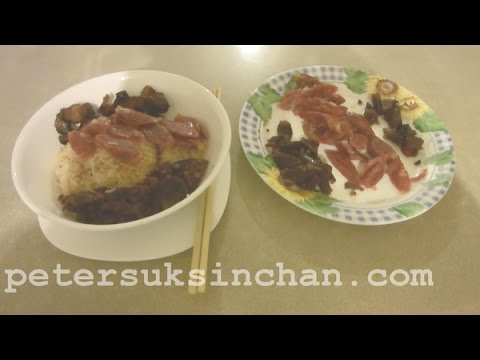 Assorted Chinese sausage &  Preserved Pork Meat  Rice- ( Peter 平,靚,正,快 ,煮食天地 ) epsiode 10   陳叔善