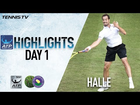 Thiem Gasquet Overcome Early Challenges In Monday Halle Highlights