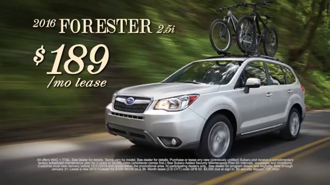 Lease A New 2016 Subaru Forester 2 5i For Just 189 Month At Brandon Tomes You