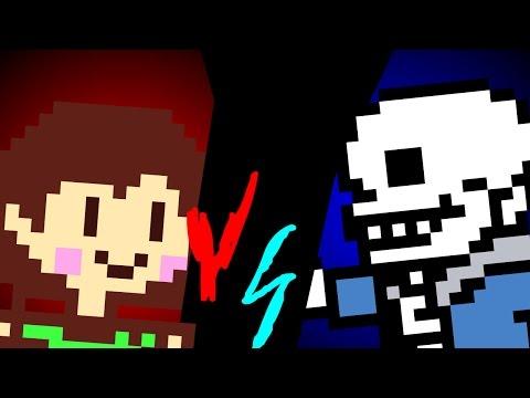 Chara vs Sans-Sprite Animation [Undertale]