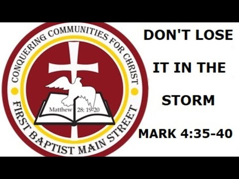 April 26, 2020 -- Don't Lose It In The Storm