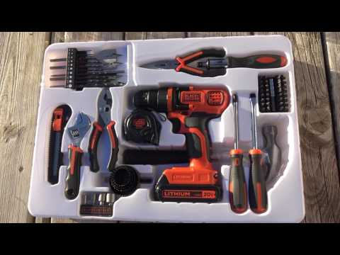 BLACK & DECKER 20-Volt Max Lithium Drill and Project Kit + Operation Deckfixing - May 2017