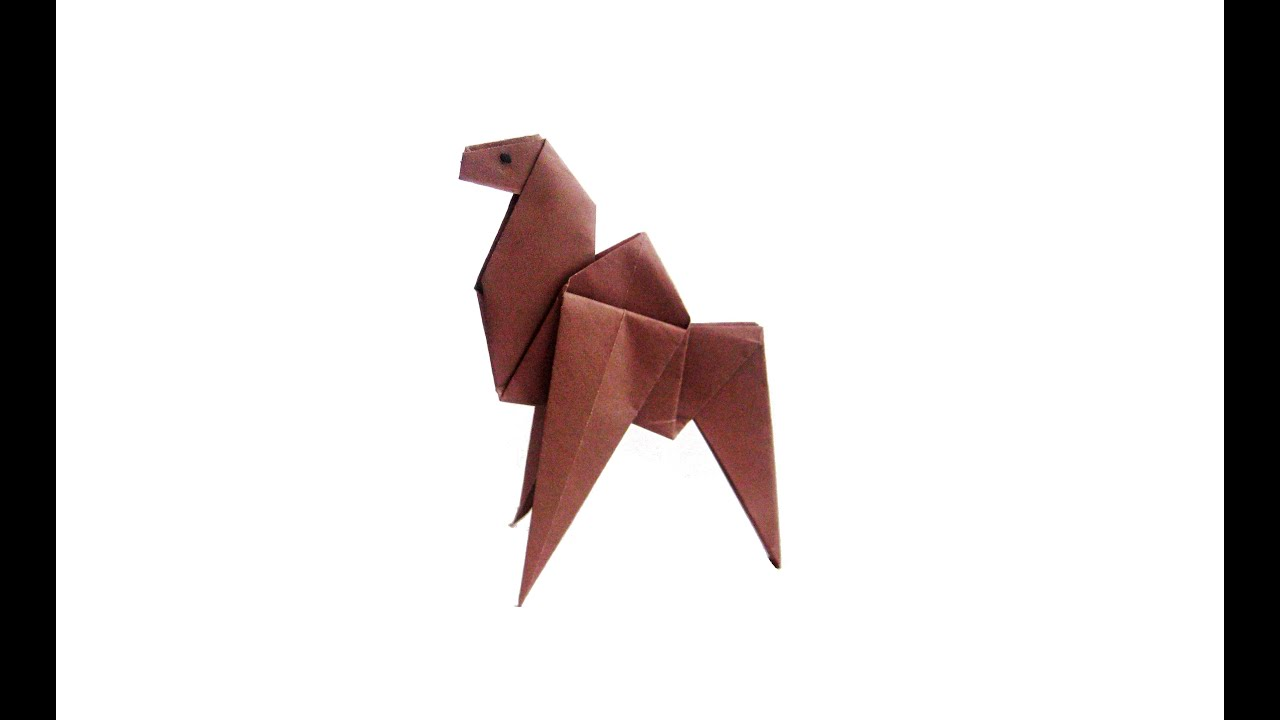 easy origami camel youtube